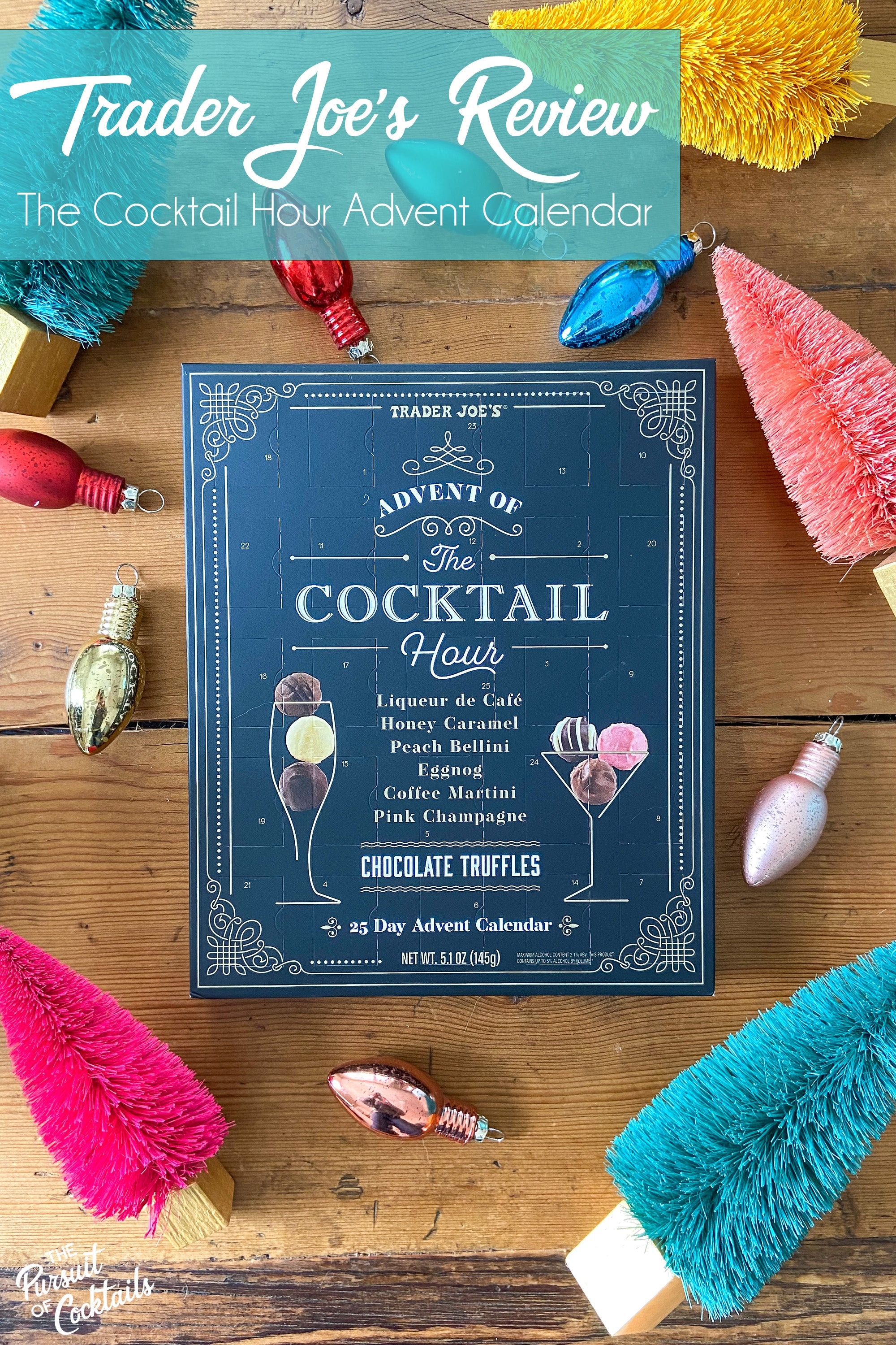 Trader Joe's Cocktail Hour Advent Calendar review by The Pursuit of Cocktails