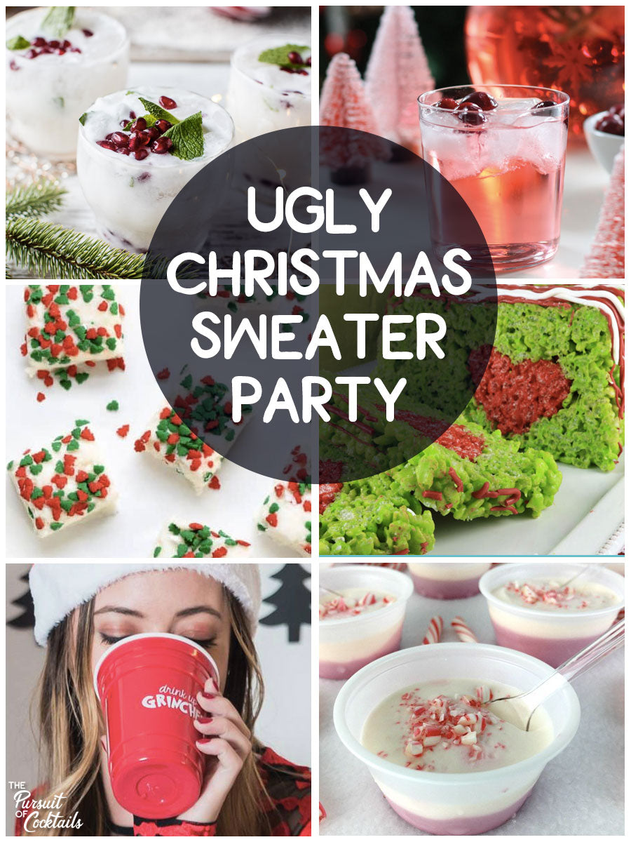 Ugly Christmas sweater party ideas and holiday cocktail recipes