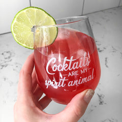 Cocktails are my spirit animal cocktail glass