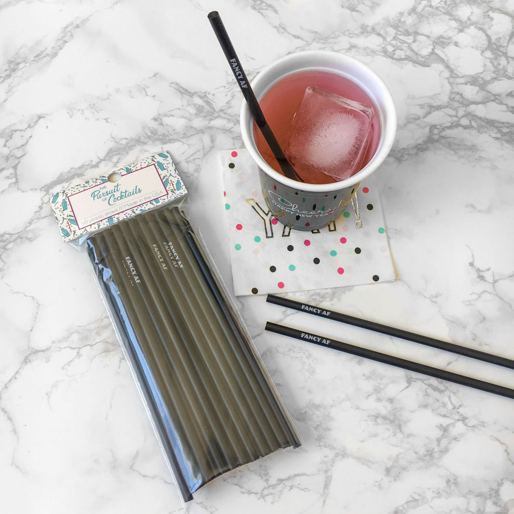 Fancy AF cocktail straws
