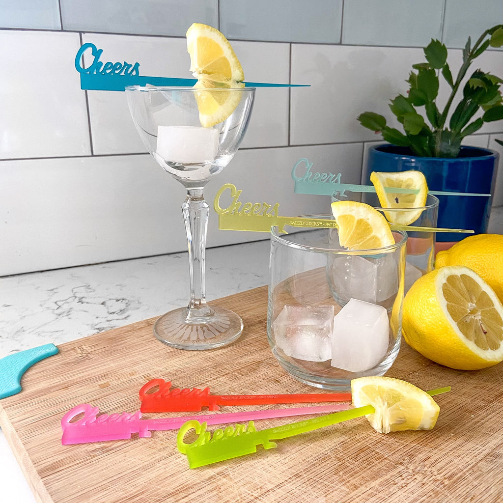 """Cheers"" Color Collection - Swizzly Stick™ for drinkware"