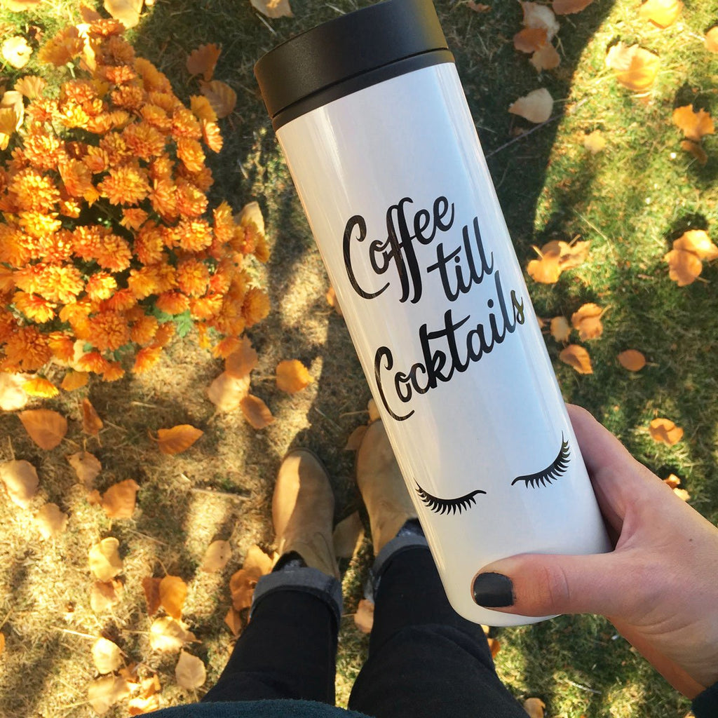 Coffee till cocktails travel mug