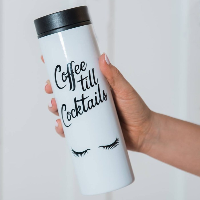Coffee till cocktails stainless steel travel mug