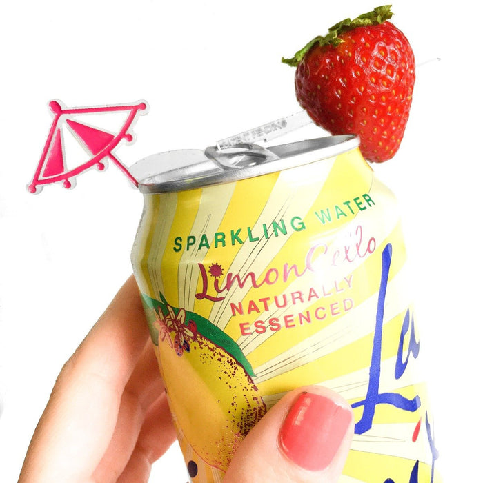 Drink umbrella for canned drinks - Swizzly drink marker