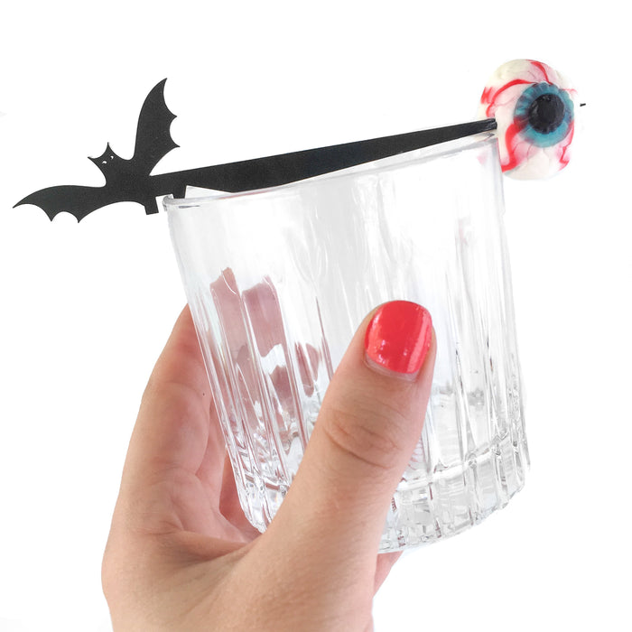 Halloween party favor cocktail stick Swizzly