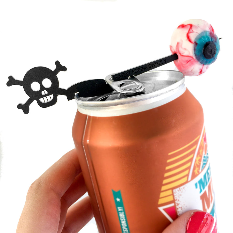 Halloween drink markers for cans - unique Halloween party favor Swizzly
