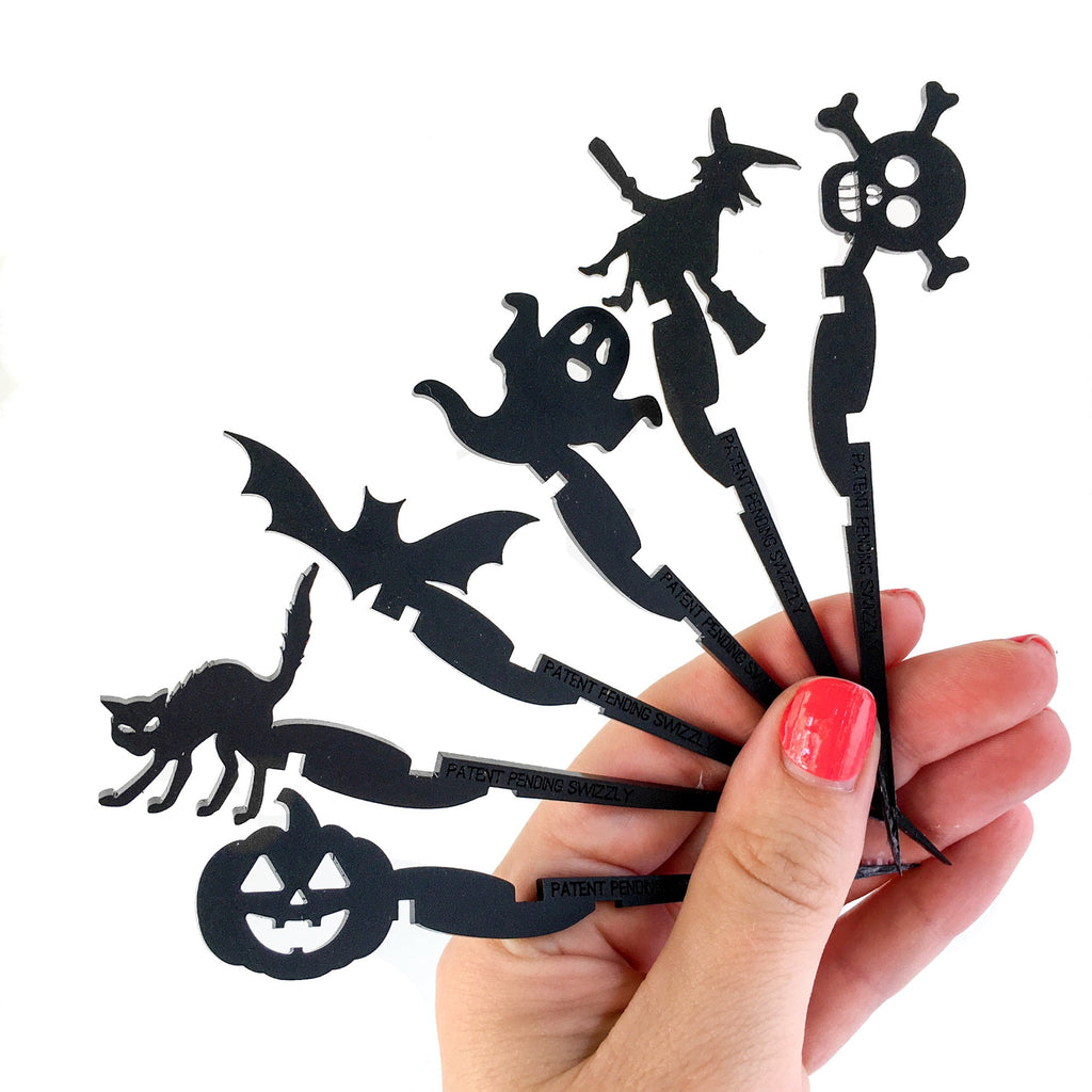 Halloween party favor drink markers for cans - Swizzly