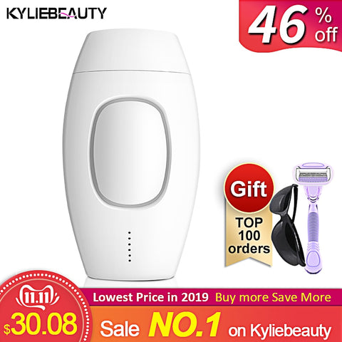 600000 Flash Professional Permanent IPL Laser Epilator; Electric Hair Removal; Painless Threading