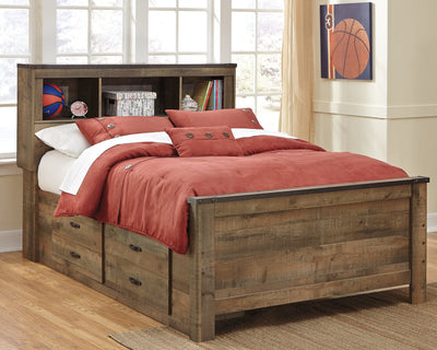 Trinell Signature Design by Ashley Bed with 2 Storage Drawers