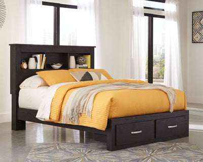 Reylow Signature Design by Ashley Bookcase Bed with 2 Storage Drawers