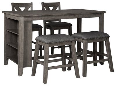 Caitbrook Signature Design Counter Height 5-Piece Dining Room Set