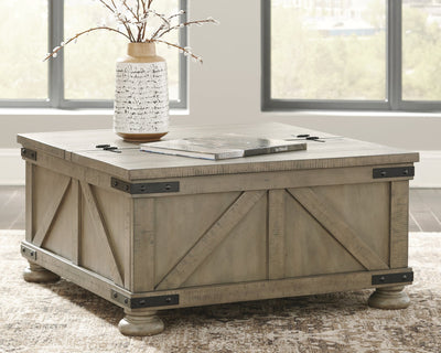 Aldwin Signature Design by Ashley Gray Coffee Table image