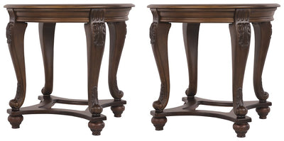 Norcastle Signature Design 2-Piece End Table Set