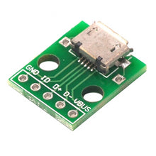 Load image into Gallery viewer, Micro USB to DIP Adapter Breakout Board 10PCS