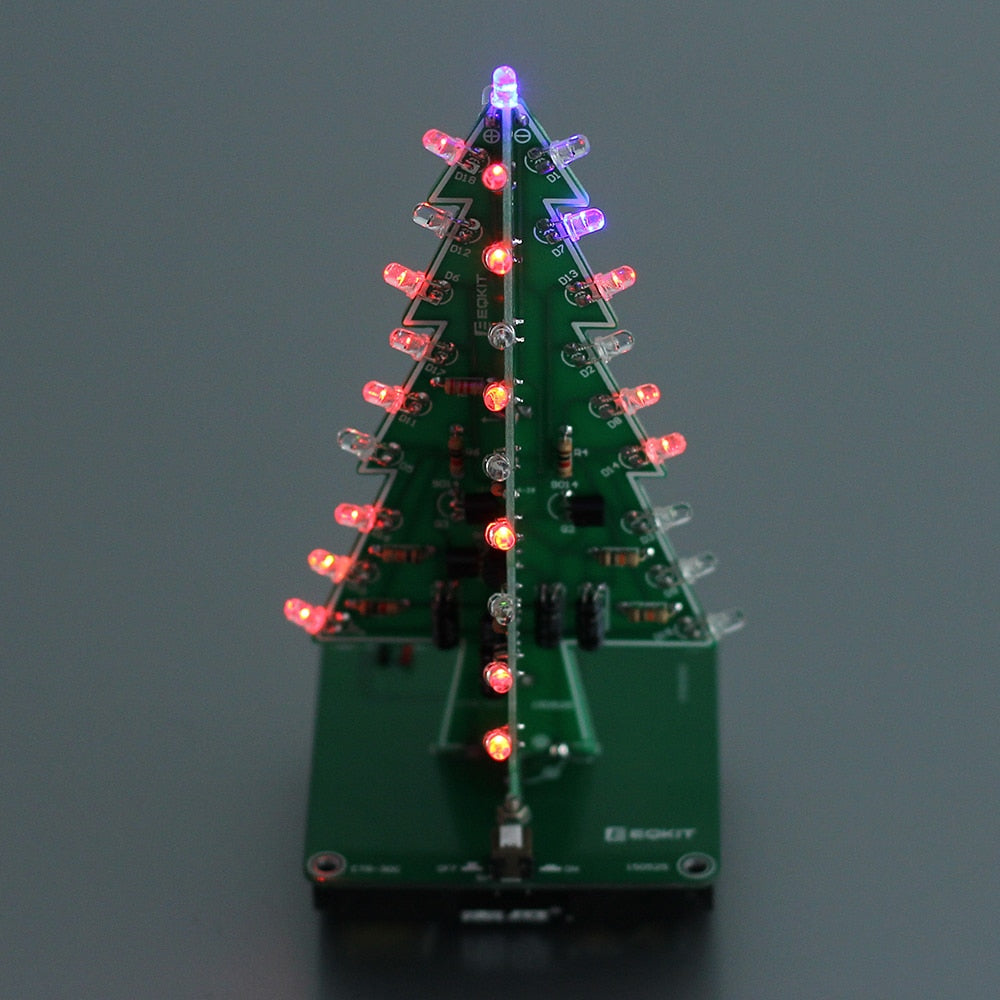 3D LED Flashing Christmas Tree DIY Electronic Kit
