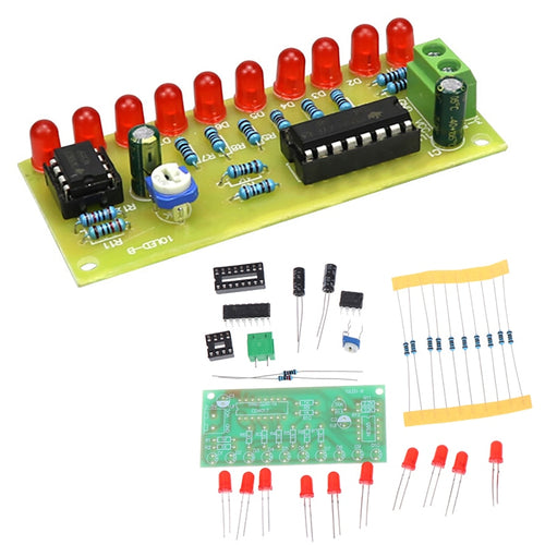 LED Light Chaser DIY Kit - Circuit-Pop