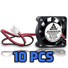 Load image into Gallery viewer, 12V DC Cooling Fans 25mm 10 PCs - Circuit-Pop