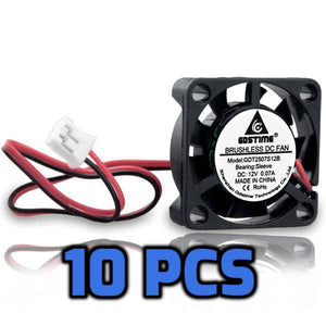 12V DC Cooling Fans 25mm 10 PCs - Circuit-Pop