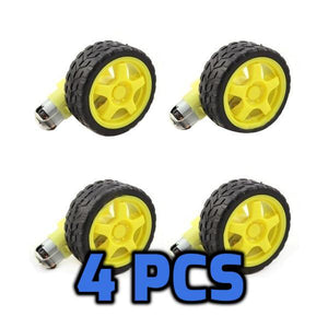 Hobby Wheels & Motor set Kit 4 Pcs - Circuit-Pop