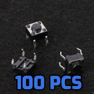Tact switches 6x6x4.5mm 100 Pcs - Circuit-Pop