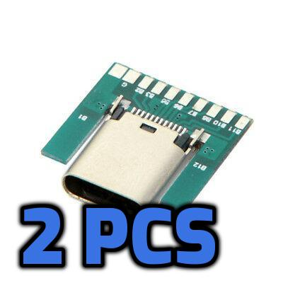 USB Type C Female Connector breakout board 2pcs - Circuit-Pop