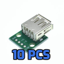 Load image into Gallery viewer, Female USB Type A breakout connector 10pcs - Circuit-Pop