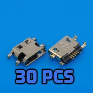 Micro USB pcb port 30PCS - Circuit-Pop