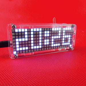 LED Matrix Digital Electronic Clock DIY Project Kit