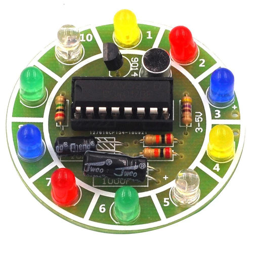 Voice Activated Spinning LED DIY Electronic Kit
