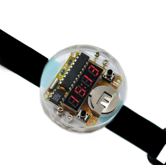 Digital LED Electronic Watch DIY Kit