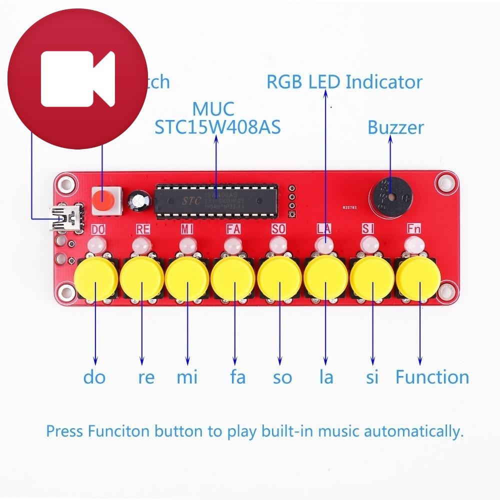 Piano LED Music Generator DIY Electronic Kit
