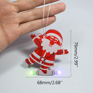 Santa Claus LED Christmas Ornament DIY Electronic Kit