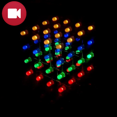4X4X4 Mini LED Cube DIY Kit