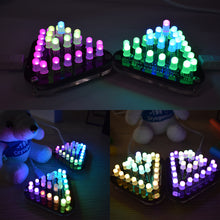 Load image into Gallery viewer, LED Pyramid Desk Trinket DIY Electronic Kit