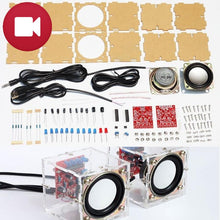 Load image into Gallery viewer, Mini Stereo Speaker with VU Meter DIY Electronic Kit