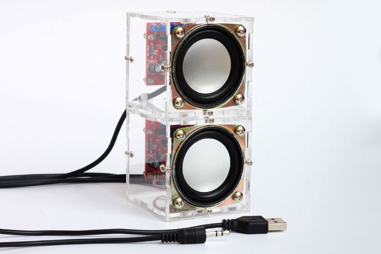 Mini Stereo Speaker with VU Meter DIY Electronic Kit