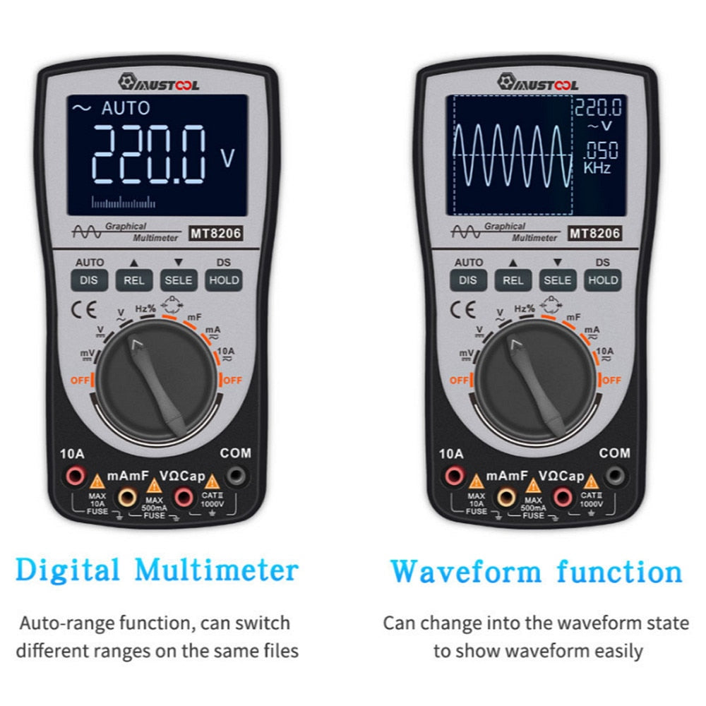2 in 1 Digital Oscilloscope Multimeter - Circuit-Pop