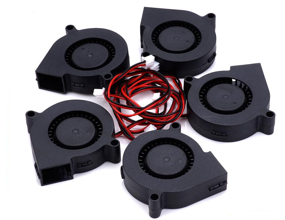 5pcs 12V DC Radial Fan - Circuit-Pop