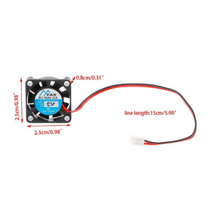 12V mini DC fan 25mm (1pcs) - Circuit-Pop