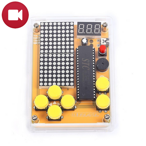Dot Matrix Retro-Arcade Portable Video Game V1 DIY KIT