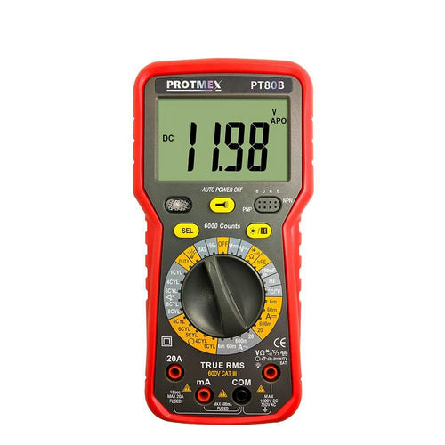 PROTMEX 6000 Autoranging/Manual Digital Multimeter - Circuit-Pop