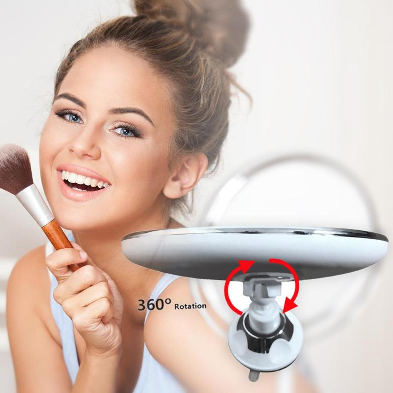 Rotating LED Make-Up Mirror with Suction Cup - Crzy8.com