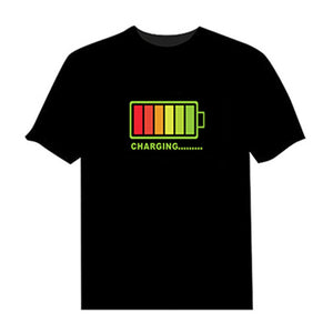 Crzy8 | Sound Activated Flashing LED T-Shirt