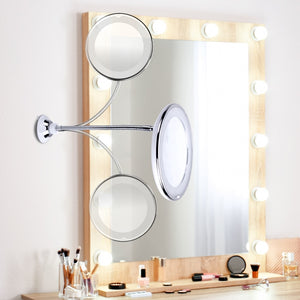 Adjustable LED Make-Up Mirror with Suction Cup - Crzy8.com