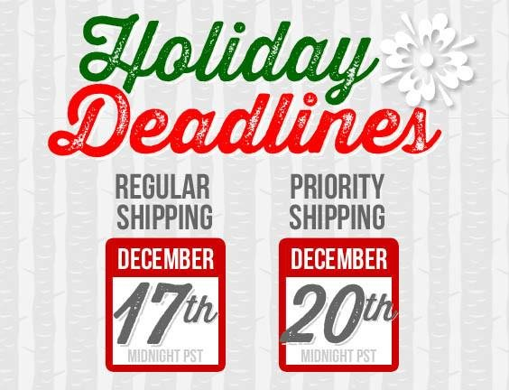 Holiday Deadline and Hours | The Dirt - Super Natural Personal Care