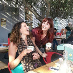 Myself and the lovely Clare of Flame to Fork enjoying some kind kreme