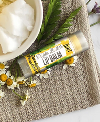 All natural lipbalm moisturizes and protects