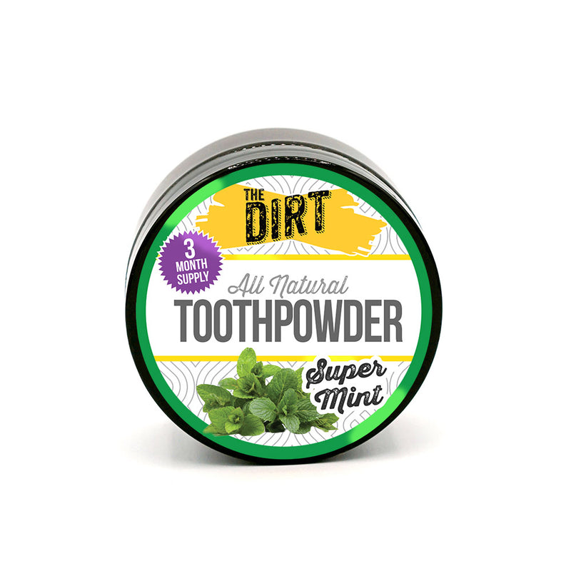 Trace Mineral Tooth Brushing Powder - The Dirt - Super Natural Personal Care 3 Month Tub / Super Mint Oral Care