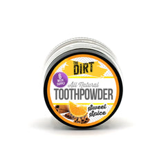 Trace Mineral Tooth Brushing Powder - The Dirt - Super Natural Personal Care 6 Week Travel Size Jar / Sweet Spice Oral Care