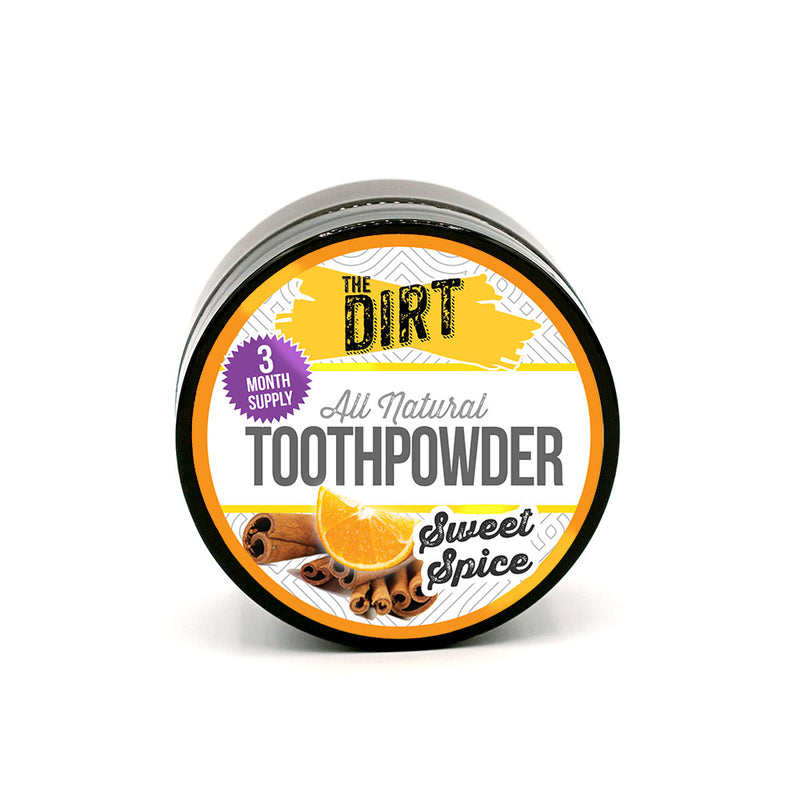Trace Mineral Tooth Brushing Powder - The Dirt - Super Natural Personal Care 3 Month Tub / Sweet Spice Oral Care
